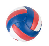 Ball. Volleyball ball isolated on white. Clipping path Royalty Free Stock Image