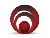 Ball abstract background. 3d. Red ball abstract background. 3d Royalty Free Stock Images