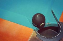 Ball acht am Loch Lizenzfreies Stockfoto