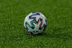 Free Ball Adidas Uniforia In The Qatar 2022 World Cup Qualifying Match Stock Images - 214349954