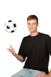Ball in the air Royalty Free Stock Photo