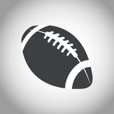 Ball american football black and white Royalty Free Stock Images