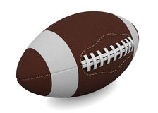 Ball for American football. Isolated render on a white background Stock Image