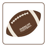 Ball for american football isolated on a white background Stock Photography