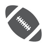 Ball american football oval icon vector. Illustration eps 10 Stock Photography