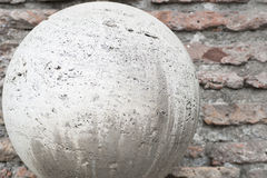Ball ancient marble Stock Photography