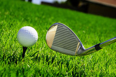 Ball And Golf Clubs Royalty Free Stock Photos