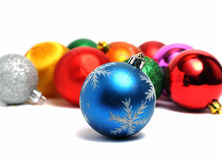 Ball on the background of other Christmas decorations Royalty Free Stock Photos