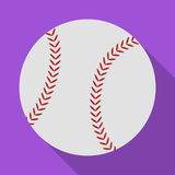 Ball for baseball. Baseball single icon in flat style vector symbol stock illustration web. Royalty Free Stock Photography