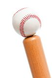 Ball and baseball bat Royalty Free Stock Image