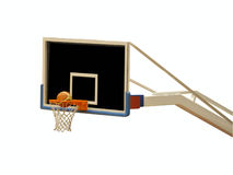 Ball in the basket stock image