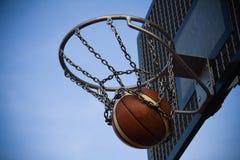 Ball in the basket Stock Photos