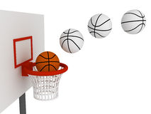 Ball in basket Royalty Free Stock Photo