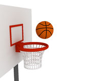 Ball in basket Royalty Free Stock Photography