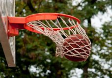 Ball in the basket - shift Stock Image