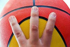 Ball of basketball Stock Photography