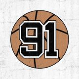 Ball of basketball with the number 91. Creative design of ball of basketball with the number 91 vector illustration
