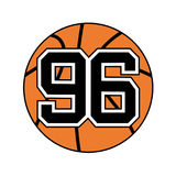 Ball of basketball with the number 96 Stock Image