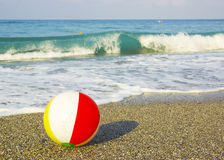 Ball on the beach Royalty Free Stock Photo