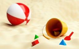 Ball beach Stock Image