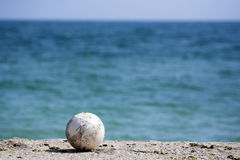 Ball on a beach Royalty Free Stock Photography