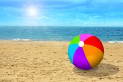 Ball at the beach Stock Image