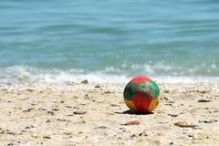Ball on a beach Stock Photography