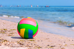 Ball on the beach Royalty Free Stock Photography
