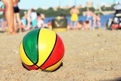 Ball on the beach Royalty Free Stock Image