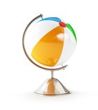 Ball beach globe 3d Illustrations Stock Image