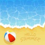 Ball on the beach vector illustration
