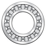 Ball bearing. For various designs Royalty Free Stock Photography