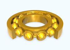 Ball bearing. 3d illustration of a roller bearing Royalty Free Stock Photography