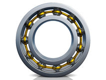 Ball bearing. With gold stripe over white background Stock Photography