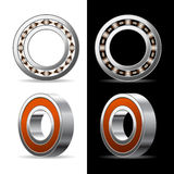 Ball bearing. Illustration of ball bearings on a white and black background. Vector royalty free illustration