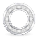 Ball bearing. On a white background. Vector illustration Royalty Free Stock Photos