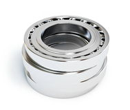 Ball bearing. On white background Royalty Free Stock Photography