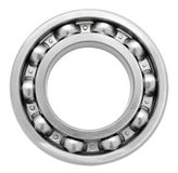 Ball bearing. A ball bearing, isolated over white, clipping path Stock Photo
