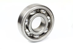 Ball bearing. On white background stock image