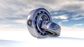 Ball bearing. On ground (nice sky Stock Images