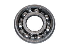 Ball Bearing. Isolated on White Background Royalty Free Stock Photography