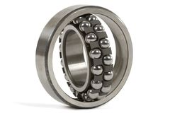 Ball bearing. Jointed ball bearing isolated on white background Royalty Free Stock Photos