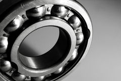Ball bearing in black and white. Ball bearing still life stock photo