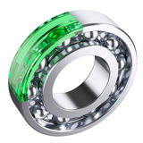 Ball bearing with cut form glass fragment Stock Images