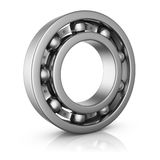 Ball bearing in a cut Royalty Free Stock Image