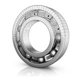Ball bearing in a cut Royalty Free Stock Images