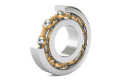 Ball bearing, cutaway. 3D rendering Royalty Free Stock Images