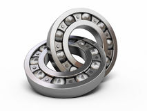 Ball Bearing. 3d render Ball Bearing ( on white and clipping path Royalty Free Stock Photo