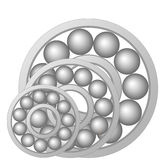 Ball bearing. Design element of a mechanical bearing. Vector line icon template.You can use in energy, power, machine, transportation Stock Image