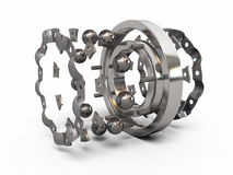 Ball bearing. Detail part render ( on white and clipping path Royalty Free Stock Image